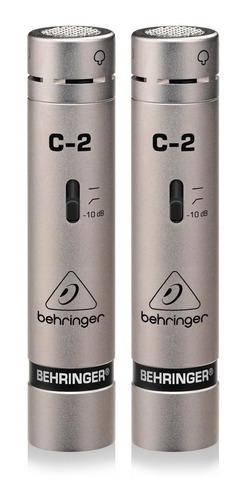 Micrófonos Behringer C-2 Cardioide Plateados