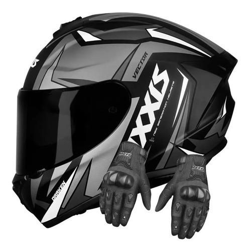 Capacete Axxis Inglaterra Moto Masculino Feminino Luva