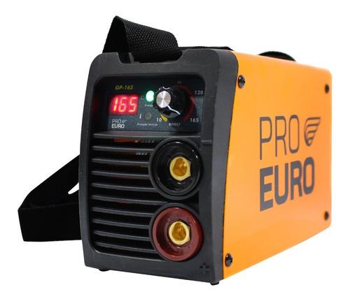 Solda Inversora Gp-165 A Pró Euro Bivolt 110v/220v Completa