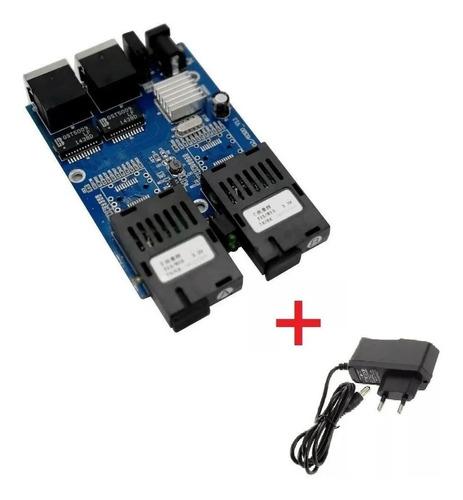 Switch Placa Metro Gigabit 1000mb Gbic A B-2p Rj45 Com Fonte