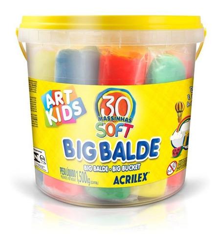 Massa Para Modelar Big Balde Art Kids 30 Massinhas 1.5 Kg