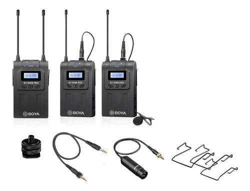 Micrófonos Inalámbricos Boya By-wm8 Pro K2 Condensador Omnidireccional Negros