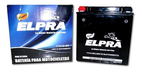 Bateria Elpra Ytx16-bs  Acido Incluido C/caja