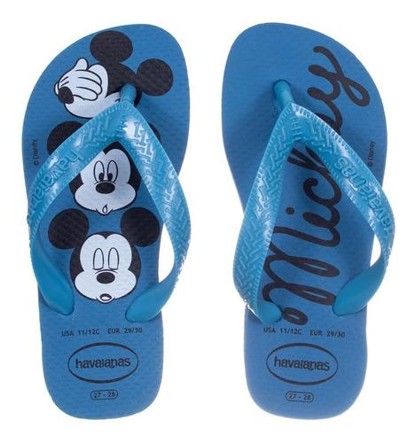 Chinelo Kids Mickey Disney Havaianas - Azul Aco