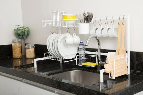 Cozinha Suspensa Modular Autosustentável Escorredor 20 Peças