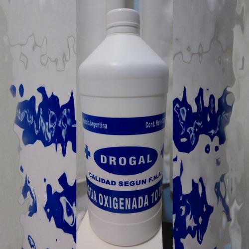 Agua Oxigenada Drogal 10 Vol. 1l X 2 Unidades