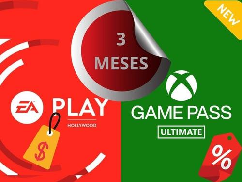 Xbox Game Pass + Ea Play 3 Meses