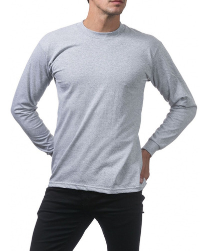 Camiseta Manga Comprida Básica Lisa Sem Estampa Camisa Blusa