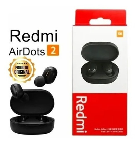 Fone De Ouvido In-ear Sem Fio Xiaomi Redmi Airdots 2 Lacrado