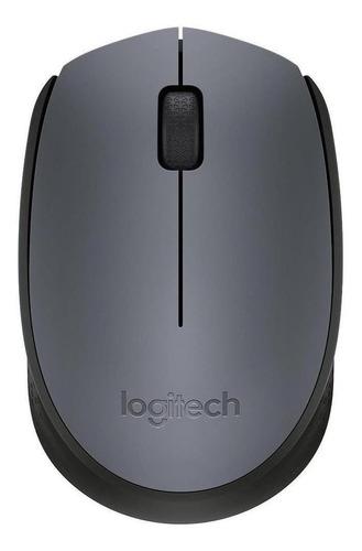 Mouse Sem Fio Logitech  M170 Cinza E Preto