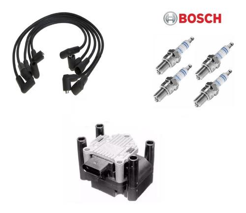 Kit Volkswagen Gol Trend Fox Bobina Encendido Bujia Cables
