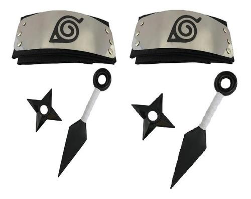 Kit Naruto-duas Kunais Naruto+duas Shurikens + Duas  Bandana