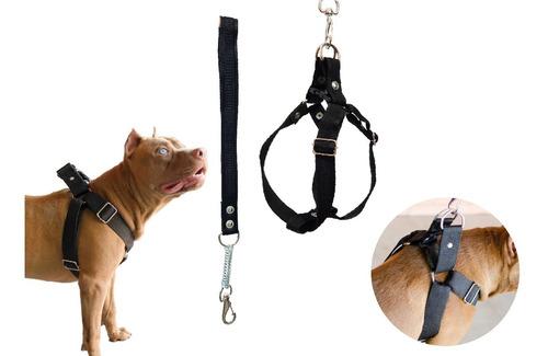 Coleira Peitoral Cachorro Guia Doberman Pitbull Anti Puxão
