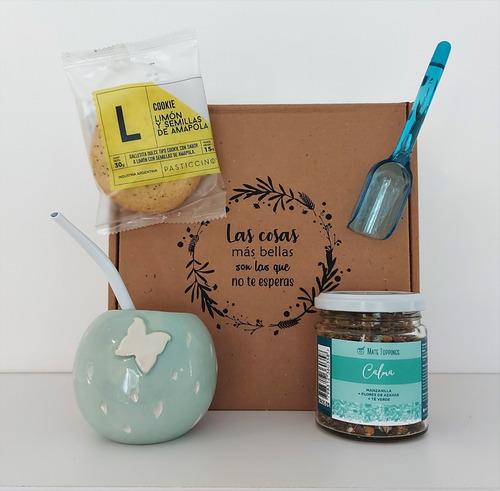 Gift Box Regalo De Bienvenida Mate + Topping Yerba + Cookie