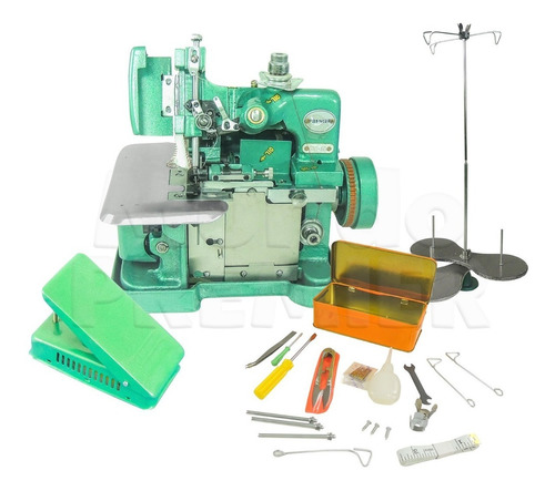 Maquina Costura Overlock Portatil Semi Industrial 110v Gn1
