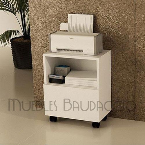 Mueble Para Impresora Con Ruedas En Melamina