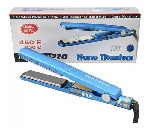 Chapinha De Cabelo Babylisspro Nano Titanium 2091  Azul 110v