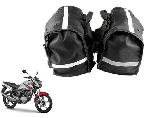 Alforge Lateral 60l Novo Para Moto Gratis Capa Poucas Unid