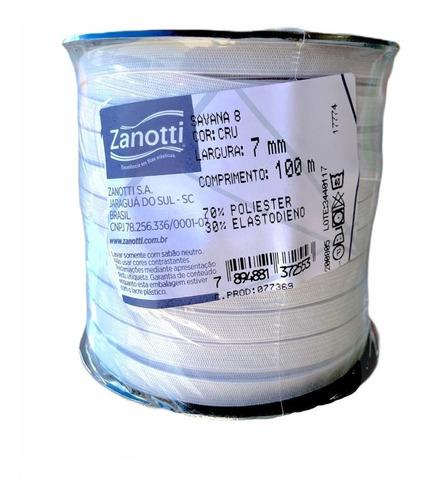 Elástico Reforçado Branco 7 Mm Lençol -100 Metros