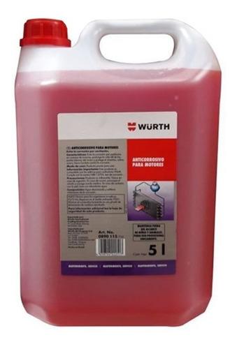 Liquido Agua De Radiador Anticorrosivo Wurth 5 Litros
