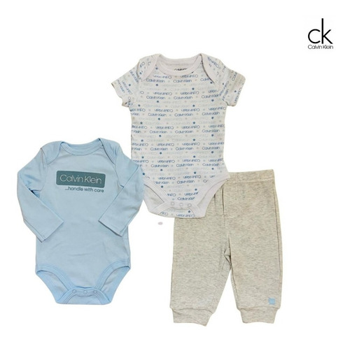 Kit Body E Calça Calvin Klein Baby Original Importado Bebê