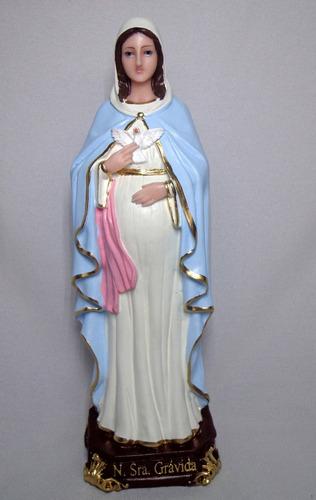 Imagem Nossa Senhora Grávida 15cm Resina