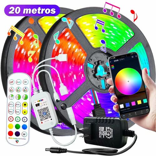 Fita Led 5050 20 Metros Controle Wi-fi+alexa+google Home