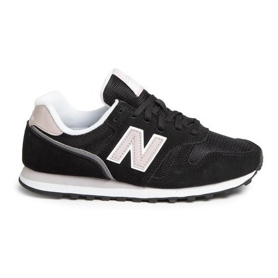 Zapatillas New Balance Lifestyle Mujer Wl373 Negro-rosa Cli