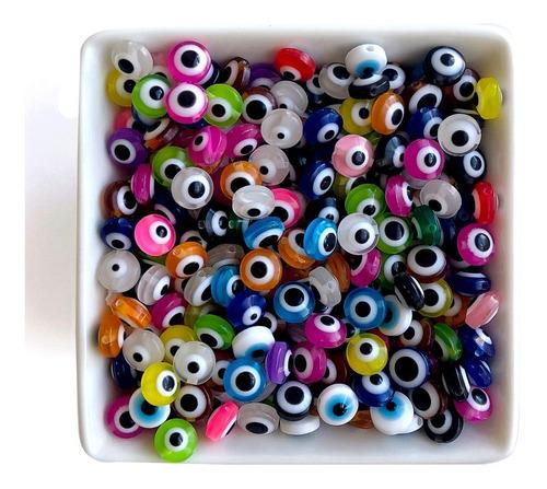 Miçanga Olho Grego Colorido Para Montar Bijuterias, 50 Pçs