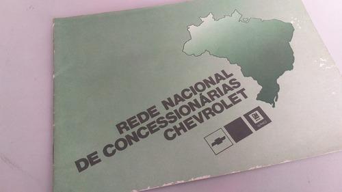 Manual Rede Concessionarias Chevrolet Opala Kadett Chevette