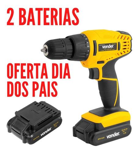 Parafusadeira Duas Bateria Furadeira 18v Pfv018 - Vonder