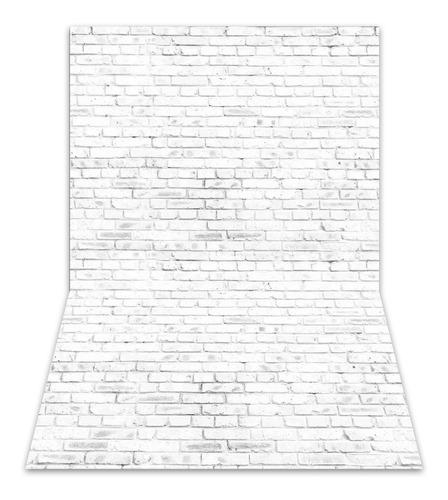 Fundo Fotográfico Parede Tijolos Brancos Em Tecido 1, 75x1, 20