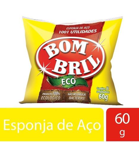Esponja De Aco Bombril C/8 Unidades 60g