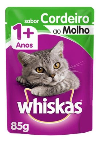 Alimento Whiskas 1+ Para Gato Adulto Sabor Cordeiro Ao Molho Em Sachê De 85g