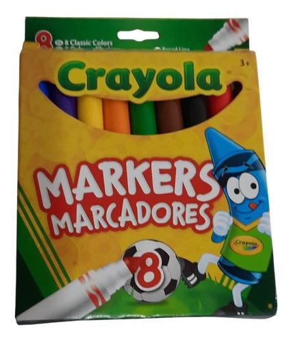 Marcadores Crayola Originales 8 Colores Americanos Didactico