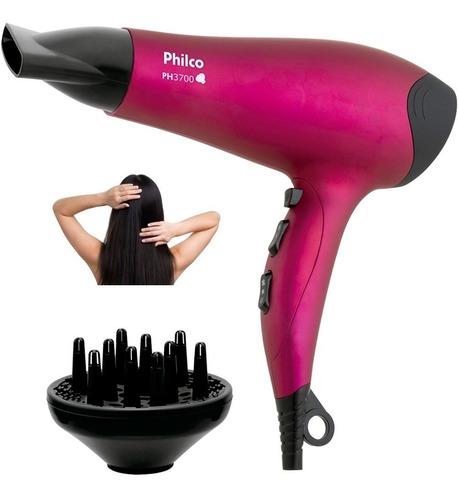 Secador De Cabelo Philco Ph3700 2000w C/ Difusor Pink