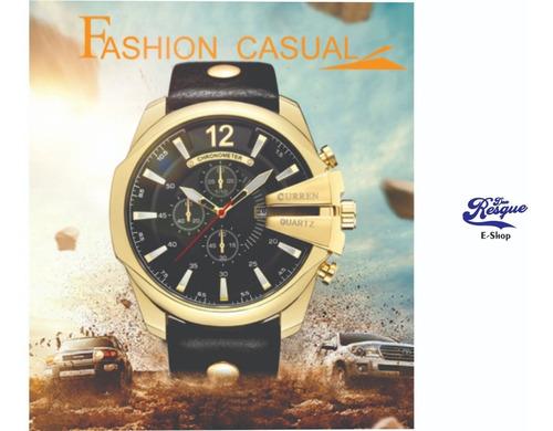 Relógio Curren 8176 Masculino Importado Original Top