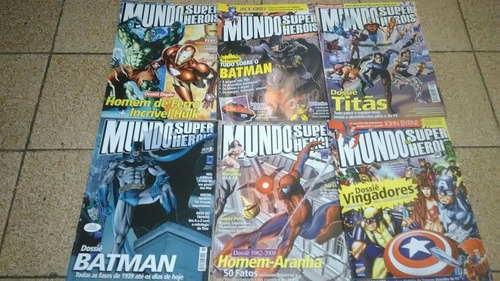 6 Revistas Mundo Dos Super Herois