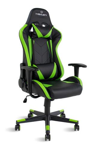 Cadeira Gamer Strike Healer Verde/preto