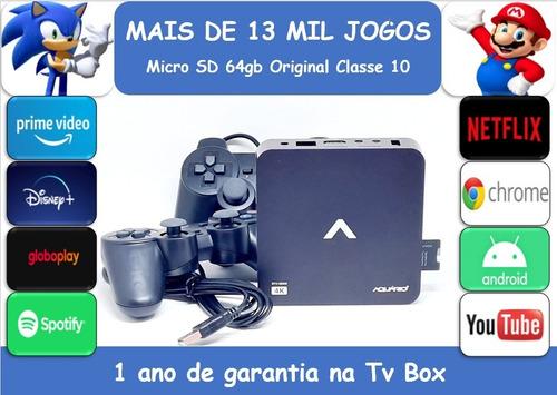 Retro Game 13mil Jogos 64gb Tv Box 2 Controles Usb  Play2