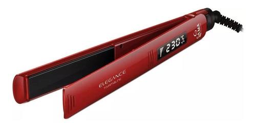 Planchita De Pelo Ga.ma Italy Elegance Digital Roja Con Placas De Turmalina 110v/220v