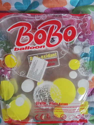 Globo Burbuja Paquete X 50 Unidades 18 Pulgadas