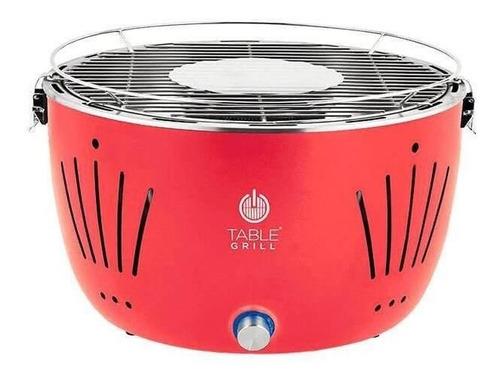 Churrasqueira Móvel Table Grill Asador Portátil 23.1cm De Altura Y 37.5cm De Diâmetro Vermelha