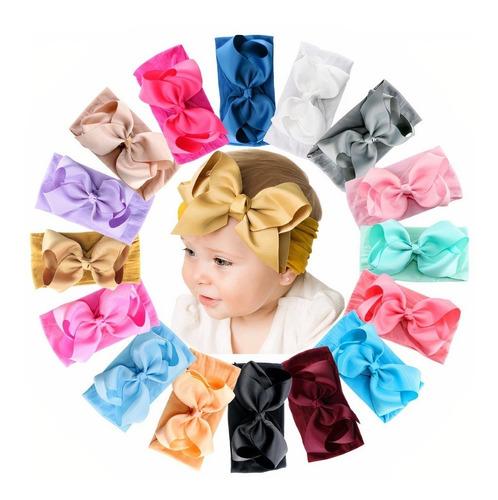 Faixa De Bebe Com Laço Infantil Turbante Tiaras De Cabelo