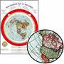 Mapa Do Mundo 60cmx84cm Terra Plana Enfeite Pra Sala