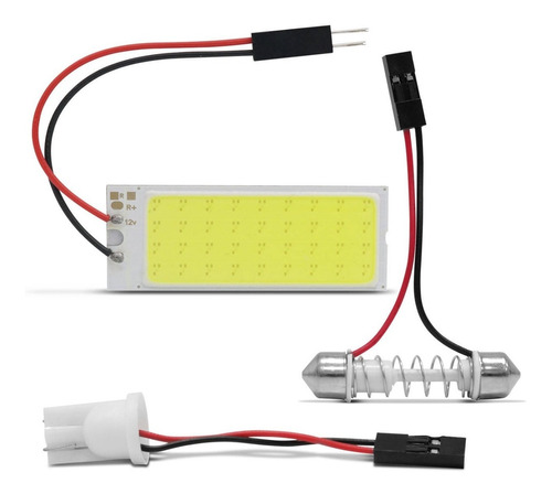 Placa Led Pingo T10 Torpedo 40mm 36 Leds 5w 12v Luz Branca