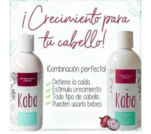 Kit Kaba Shampoo Cebolla + Biomascarilla - mL a $95
