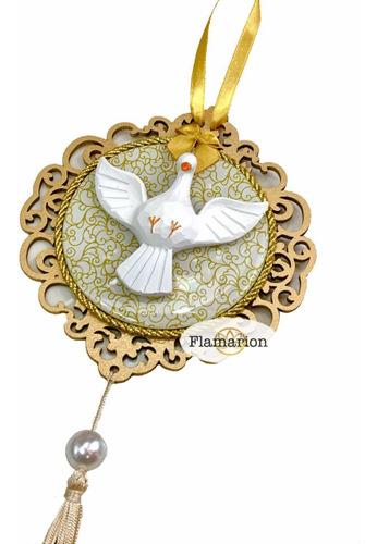 Mandala Divino Espírito Santo Resina Luxo P/ Porta Parede