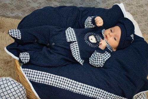 Saída Maternidade Menino Felipe 4 Peças 100% Algodão Cor 3