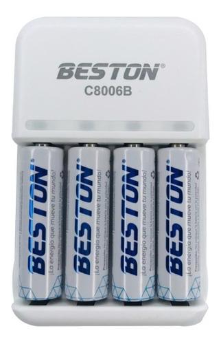 Baterias Aa Recargable X 4 Pack + Cargador Pila Beston